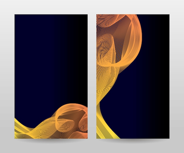 Modèle pour brochure, rapport annuel, magazine, affiche, présentation d'entreprise, portfolio, flyer, mise en page moderne avec couleur bleue, recto et verso, facile à utiliser et à modifier.