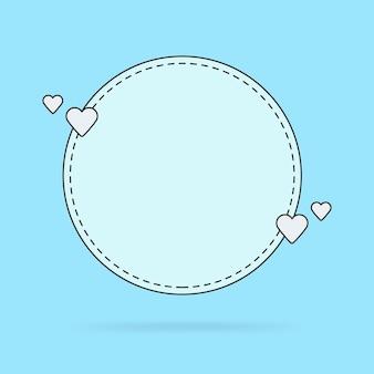 Modèle pour les citations de bulles de texte, les messages d'amour, les félicitations. illustration vectorielle