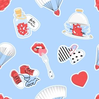 Modèle pour l'illustration vectorielle de la saint-valentin