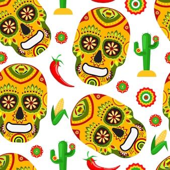 Modèle pour le jour mexicain des morts