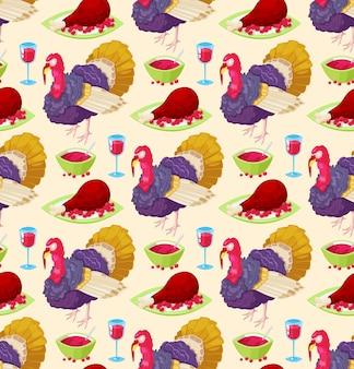 Modèle pour le jour de thanksgiving
