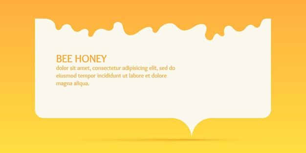 Le modèle pour les produits de l'affiche vectorielle élégante du rucher pour le miel d'abeille