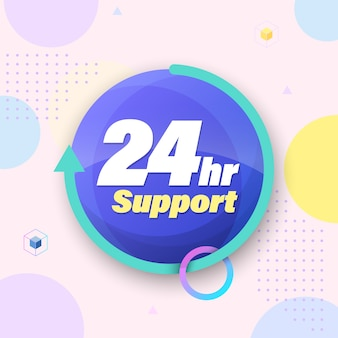 Modèle pour les services d'urgence 24 heures sur 24 et support.