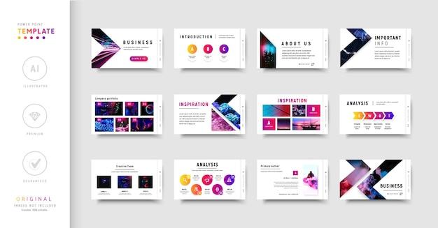 Modèle powerpoint coloré effets de dégradé de style moderne