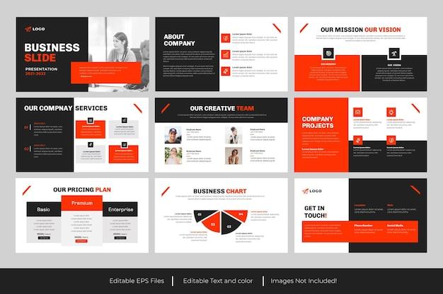Modèle powerpoint de diapositive d'entreprise