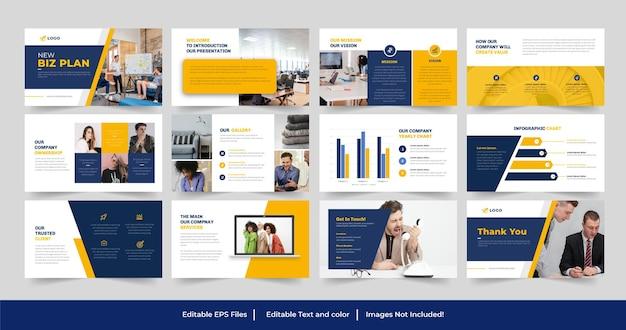 Modèle powerpoint de plan d'affaires ou conception de modèle de présentation de plan d'affaires
