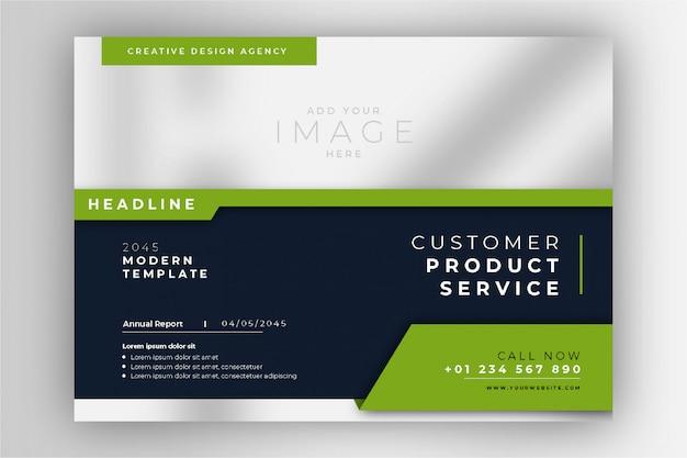 Modèle de présentation de brochure d'entreprise vert élégant