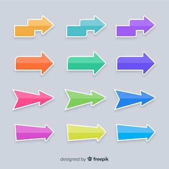 Modèle de présentation de collection flèche colorée