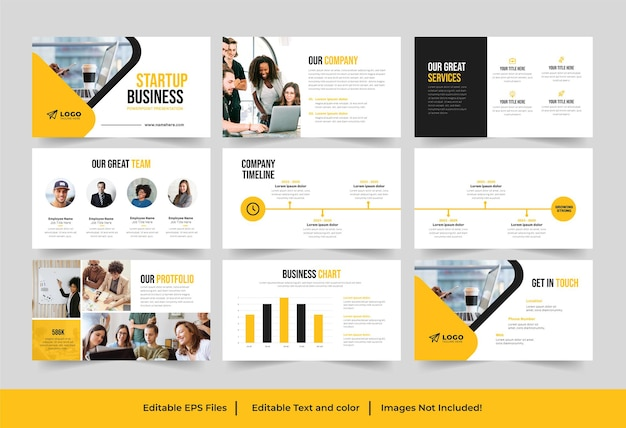 Modèle de présentation de démarrage ou conception de présentation de démarrage d'entreprise
