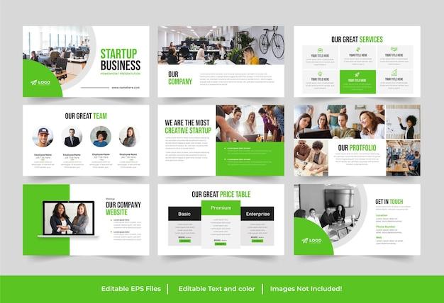 Modèle de présentation de démarrage d'entreprise ou conception de présentation de démarrage d'entreprise