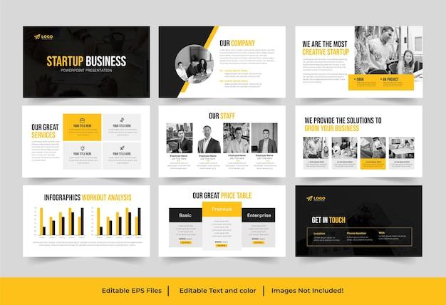 Modèle de présentation de démarrage d'entreprise ou présentation de pitch de démarrage