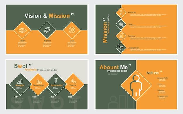 Modèle de présentation de diapositive d'entreprise illustration stock modèle logiciel de présentation de diaporama
