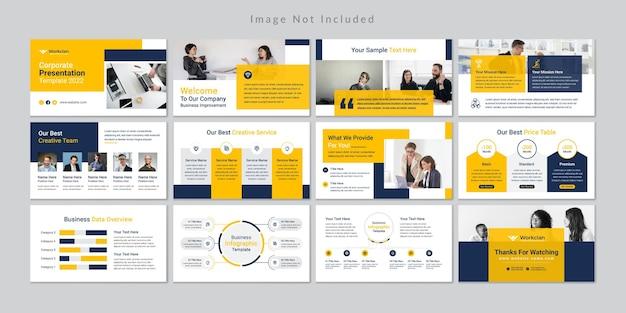 Modèle de présentation de diapositives commerciales minimal