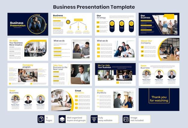 Modèle de présentation de diapositives commerciales minimales