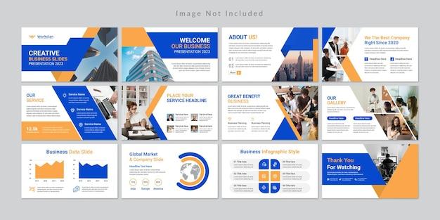 Modèle de présentation de diapositives commerciales minimales.