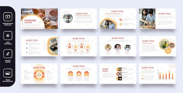 Modèle de présentation de diapositives de cours de cuisine