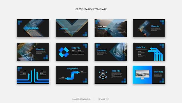 Modèle de présentation de diapositives d'entreprise à dégradé créatif polyvalent