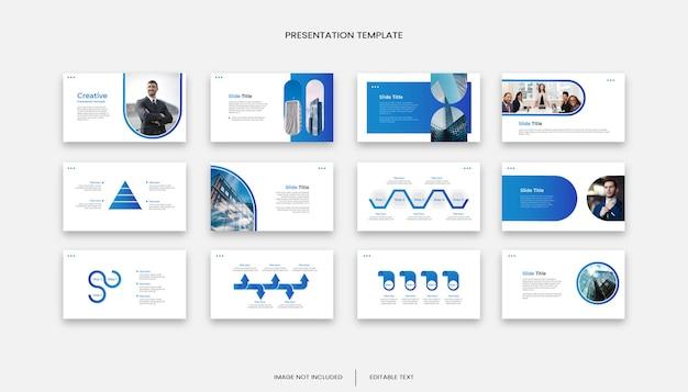 Modèle de présentation de diapositives d'entreprise polyvalente 12