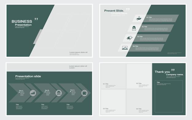 Modèle de présentation de diapositives minimales d'entreprise illustration stock modèle présentation de diaporama