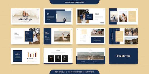 Modèle De Présentation De Diapositives Minimales Vecteur Premium