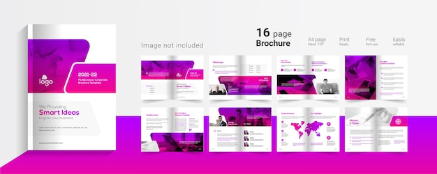 Modèle de présentation d'entreprise de 16 pages