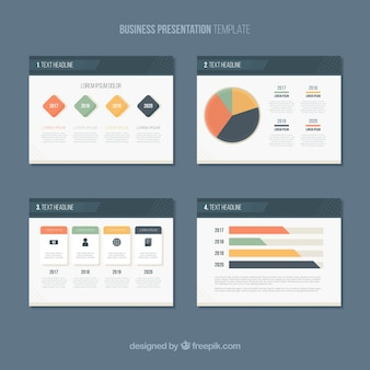 Modèle de présentation d'entreprise dans le style plat