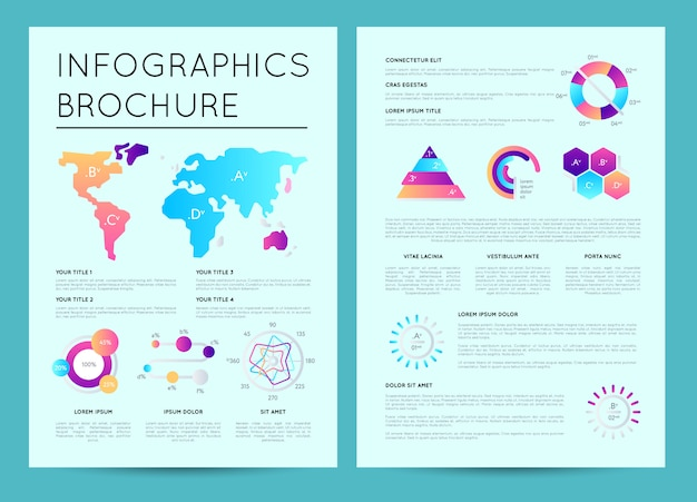 Modèle de présentation d'entreprise avec infographie