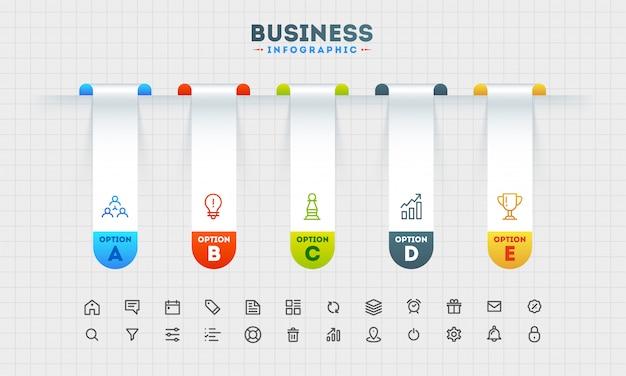 Modèle de présentation d'entreprise infographique