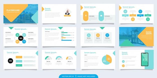 Modèle de présentation d'entreprise ludique