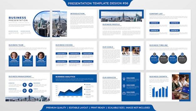 Modèle de présentation d'entreprise minimaliste