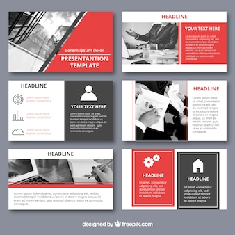 Modèle de présentation d'entreprise avec photo