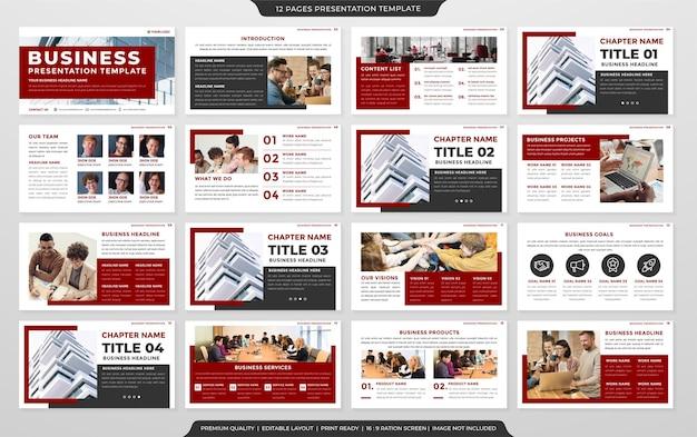 Modèle de présentation d'entreprise style premium