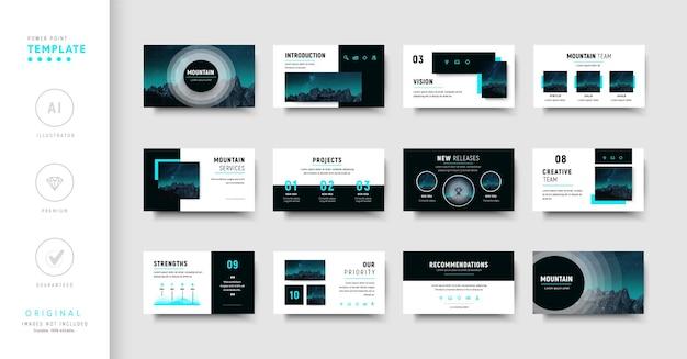 Modèle de présentation d'entreprise violet et bleu de style moderne