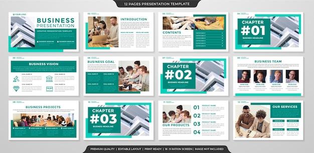 Modèle de présentation d'entreprise