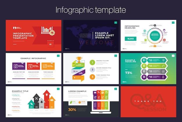 Modèle de présentation d'infographie