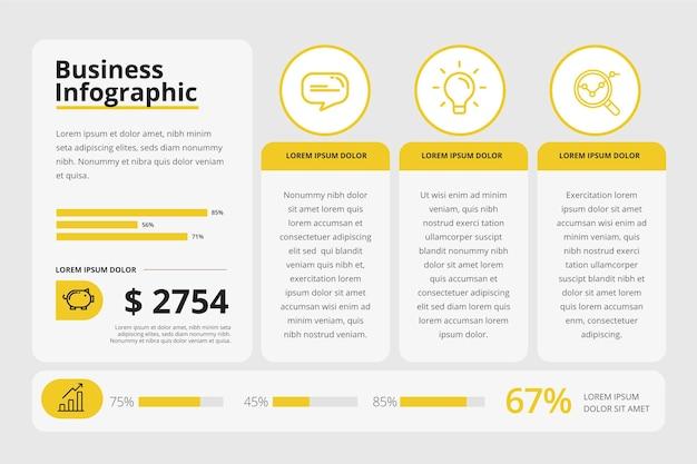 Modèle de présentation infographique d'entreprise
