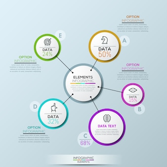 Modèle de présentation infographique de société vector