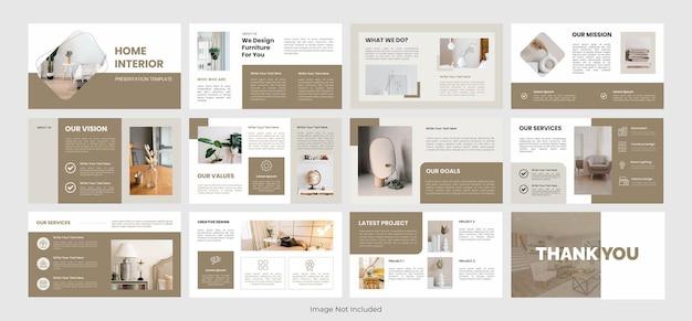 Modèle de présentation d'intérieur à la maison