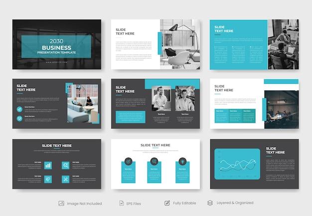 Modèle de présentation powerpoint d'entreprise minimale