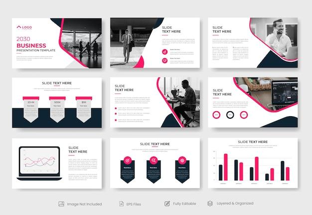 Modèle de présentation powerpoint d'entreprise moderne