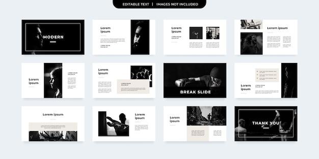 Modèle de présentation de style minimal