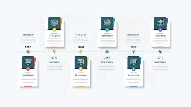 Modèle de processus d'infographie commerciale en 6 étapes