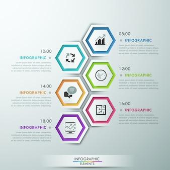 Modèle de processus d'infographie moderne avec des polygones