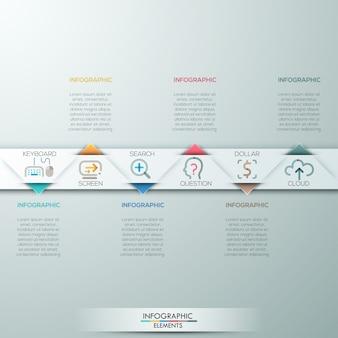 Modèle de processus de triangle infographie moderne