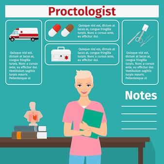Modèle de proctologue et d'équipement médical