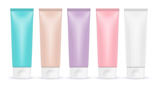 Modèle de produit cosmétique pour les annonces ou le fond du magazine. iillustration réaliste