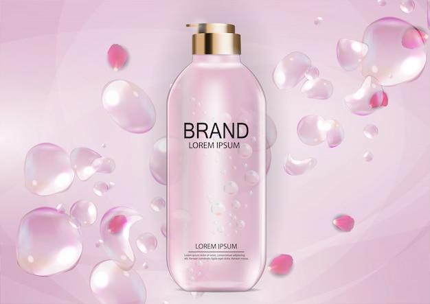 Modèle de produit design cosmetics pour annonces