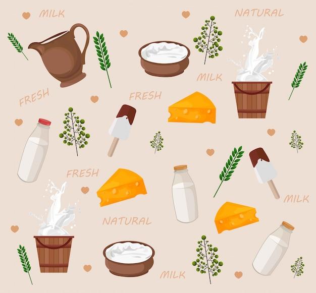 Modèle de produits laitiers frais