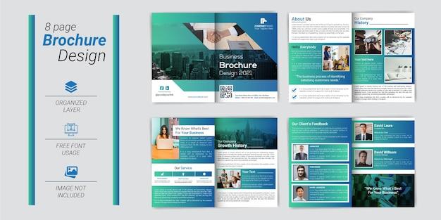 Modèle de profil d'entreprise d'entreprise créative