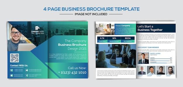 Modèle de profil d'entreprise professionnel et créatif